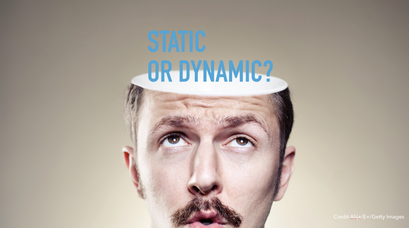 Slide text: Static or dynamic?